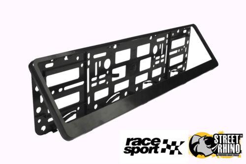 Skoda Superb Race Sport Black Number Plate Surround ABS Plastic