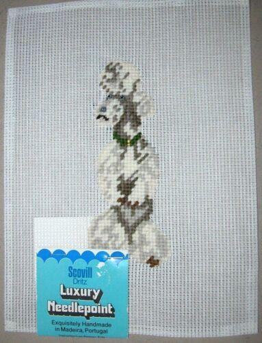 EP 2924//1 Dritz Preworked Needlepoint Canvas White Poodle