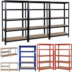 5-TIER-HEAVY-DUTY-BOLTLESS-METAL-SHELVING-SHELVES-STORAGE-SHELF-GARAGE-HOME-1-8M