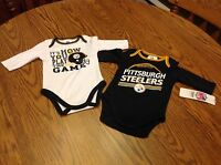 Pittsburgh Steelers Nfl 2 Piece Long Sleeve T-shirts, 3-6 Months,