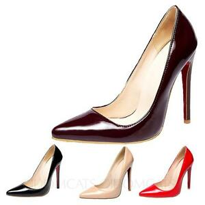 best sneakers 7843a a56fc Details zu Stiletto Pumps Lack High-Heels Größe 34-45 Schwarz rot MEGA-HOCH  damne schuhe