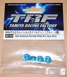 Tamiya-42143-TRF-4mm-Aluminum-Serrated-Wheel-Nut-Blue-4-Pcs-TT01-TT02-TRF419