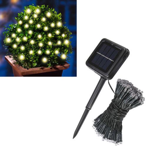 Solar Lichterkette 11m Solarlampe Gartenlampe Außenlampe Solarleuchte Solarlicht