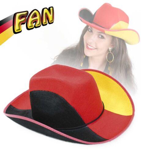 Fan-Hut Cowboyhut schwarz-rot-gold Deutschland Fan EM Deutschlandhut 123826913
