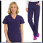 3434 Top Large Plum New Med Couture Medical Scrub Set 4-Ever Flex 3710 Pant