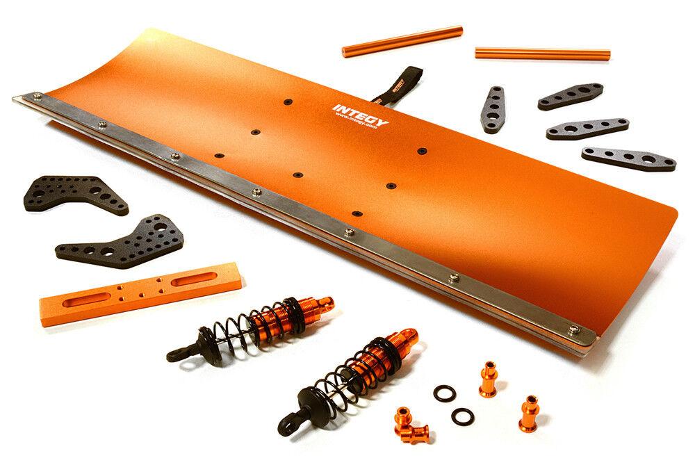 Integy rc c27056Orange legierung schneepflug - kit fr trx - 1   10 stampede 4x4 slash 4x4