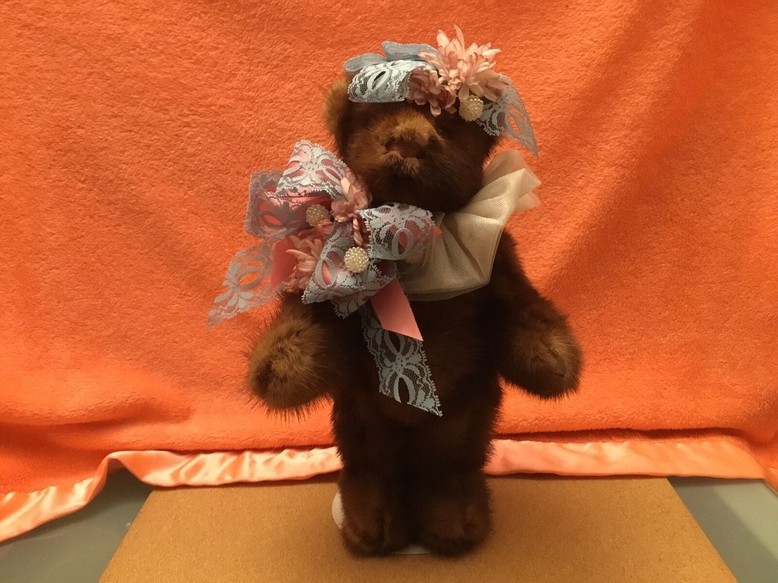 Vintage BEEMUR BEAR,Mink Teddy Bear by Heather Lori Castillo