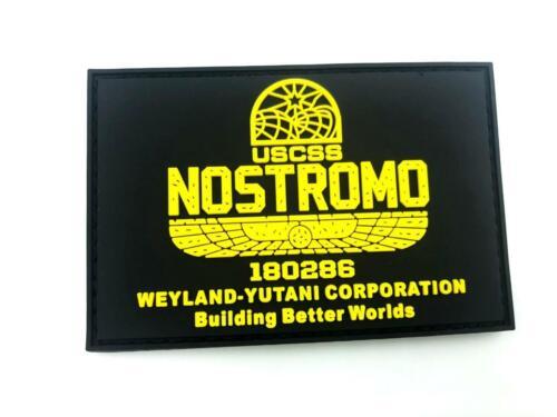 USCSS Nostromo Alien Weyland Yutani PVC Klettverschluss Flecken Kader Patch