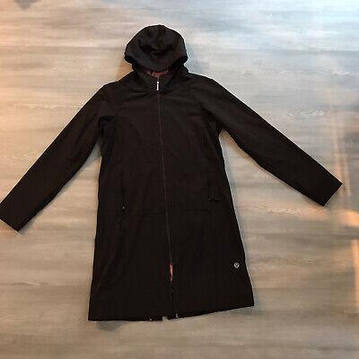 lululemon apres jacket raincoat water resistant brown pink