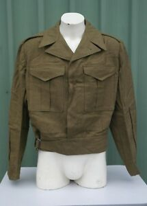 Australian-Army-Battle-Dress-Jacket-Size-15-Dated-1952-Suits-42-034-43-034-Chest-NOS