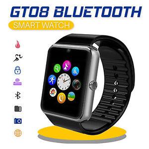 Dettagli Su Gt08 Smartwatch Orologio Da Polso Per Android Ios Bluetooth Wireless Sim Fotocamera De Mostra Il Titolo Originale