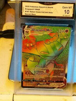 197//192 NM//M Dragapult VMAX Secret Rare Rebel and Clash Pokemon