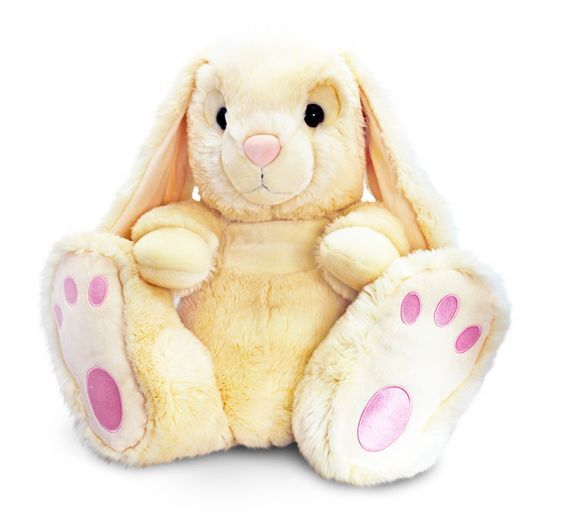 Keel Toys Patchfoot 50cm Cream Rabbit  Bunny Cuddly Soft Toy Plush  Teddy SR7699