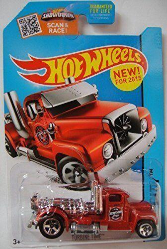 Red HW City Diecast Truck 2015 Hot Wheels Turbine Time #2//250