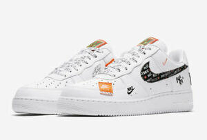 5f05b9b2245d Nike Air Force 1 07 PRM JDI Just Do It White Black AR7719 100 Men s ...