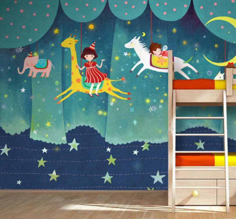 3D Mega Blau Fairy Tale World1139 Wall Paper Wall Print Decal Wall AJ Wall Paper