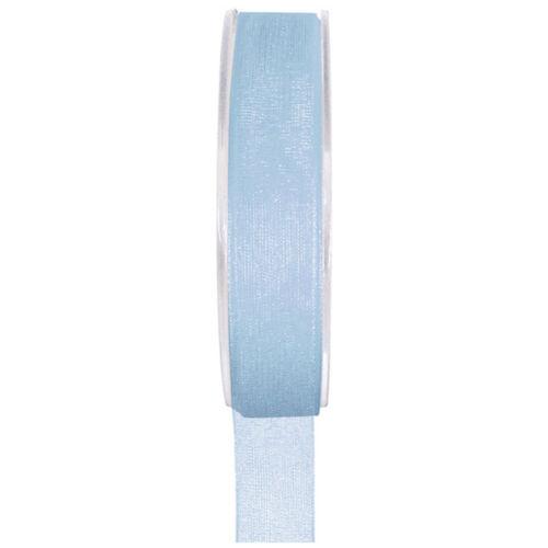 Organzaband 7 mm x20 m azul claro bucles banda boda chifón banda banda regalo