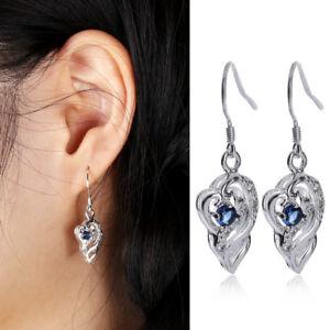 Kreative-Ohrringe-Saphir-925-Silber-Unregelmaessige-Ohrringe-Exquisite-Geschenk