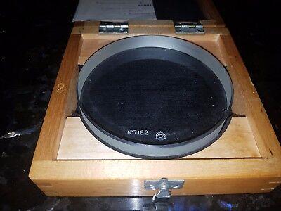 Micrometer Calibration 100mm 1965s RARE Glass Platten Optical Flat Parallel