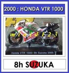 1-18-HONDA-VTR-1000-SPW-ROSSI-EDWARDS-2000-8h-SUZUKA-Die-cast