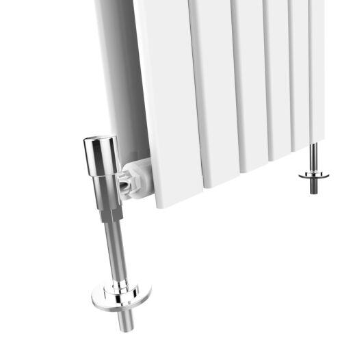 Horizontal Designer Radiator 600 x 1216mm White Double Flat Panel Heating Rads
