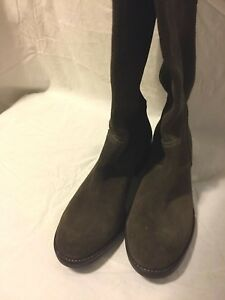 8b3abf5659 Anthropologie Lucky Penny Women s Size 7 B Brown Suede Leather Tall ...