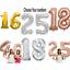 40-034-Giant-Foil-Numero-self-gonflage-ballons-Anniversaire-Age-mariage-fete-ballon miniature 4