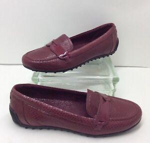 b2c8e0c6538 Rockport AdiPRENE Pink Leather Slip On Penny Loafers Driving Flats ...