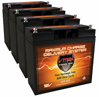 Qty 4 X-treme Xb-400m Scooter Comp. 20 Ah 12v Agm Vmax600 Scooter Battery