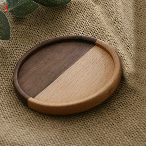 Natural Round Wooden Slice Cup Mat Tableware Home Fashion Decor Durable Coaster