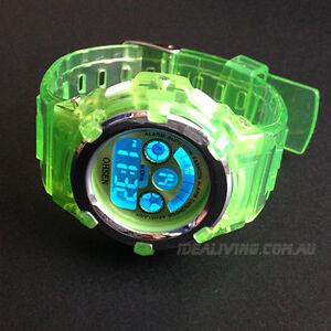 OHSEN-digital-sport-watch-for-girls-kids-Green-alarm-Original-watch-box