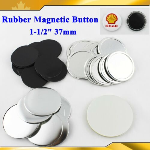 "100Sets Rubber Magnetic 1-1//2/"" 37mm Parts Supplies for Button  Maker DIY PINS"