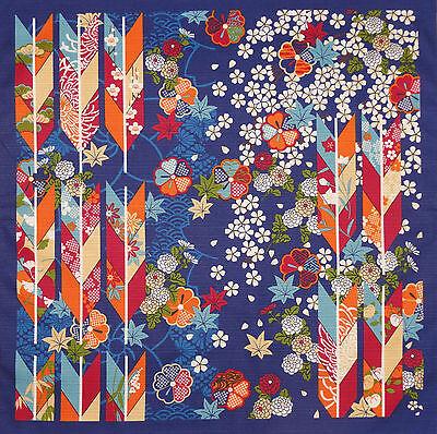 Furoshiki Wrapping Cloth Cotton Japanese 'Navy Arrows' Fabric 50cm