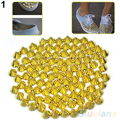 100X Hot Sale 10mm Stud Rivet Spikes Craft Bag Leathercraft Accessories DIY BGAU