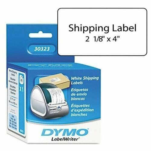 DYMO LabelWriter Shipping Labels 2 1//8 x 4 White 220 Labels//Roll 30323