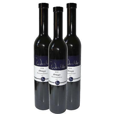 3 Fl. 2014 Ortega Beerenauslese süß -Direkt vom Weingut Wachter- Silber prämiert