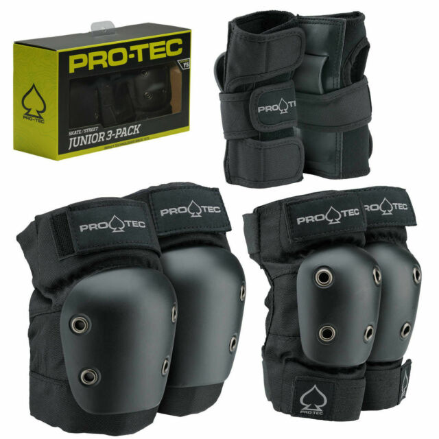 ProTec Street Black Elbow Pads Small