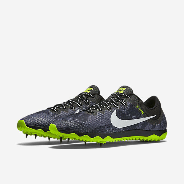NEW NIKE ZOOM RIVAL XC Spikes TRACK Shoes MENS 8 Black Volt White 749349 017