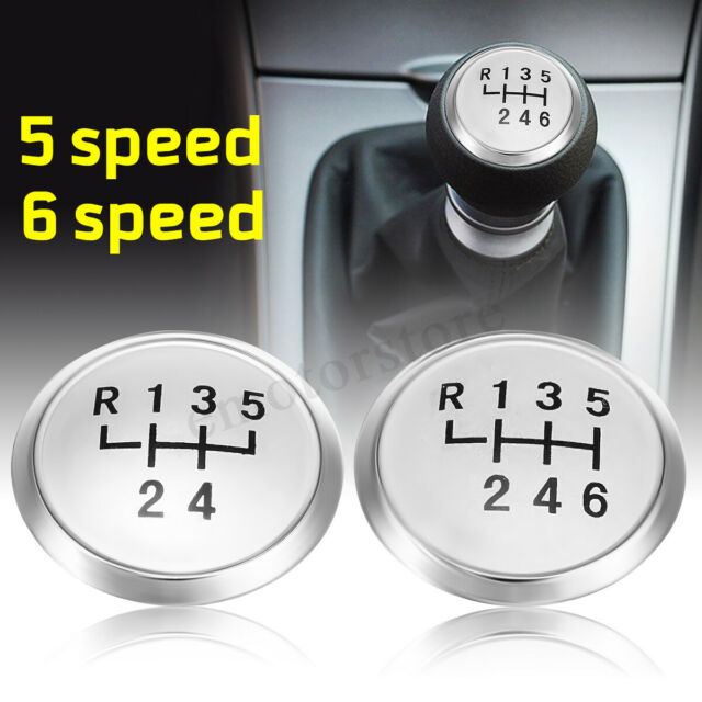 5 Speed Gear Stick Shift Knob Cap Cover Insert for Volkswagen T5 T5.1 T6 Silver