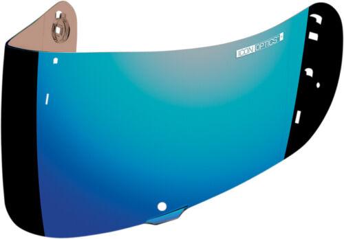 Blue Mirror ICON Optics Anti-Fog Shield//Visor for Airmada//Airframe Pro Helmets