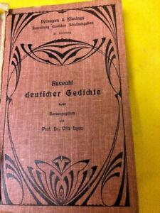 Auswahl deutscher Gedichte-1903-. Velhagen & Klasings-Bielefeld und Leipzig