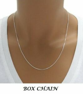 Silver-Necklace-Solid-Sterling-Silver-Chain-925-Silver-Chain-Silver-BOX-Chain
