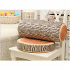 Lovely Gift for Home Natural Camping Cylinder Wood Design Log Soft Cushion