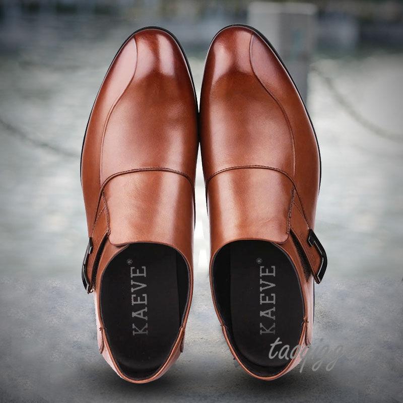 Design Mens Formal Dress shoes Slip On Wedding Groom Leather shoes Fashion