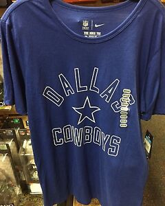 Dallas Cowboys Nike NFL Logo Legend Coaches Dri Fit Navy Tee Adult ... c005353c6