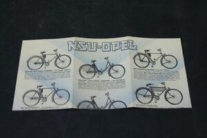 Age-Print-Handzettel-NSU-Opel-Bicycle-Old-Vintage-Advertisement-Advertising