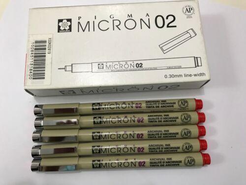Sakura Pigma Micron Drawing Pen x 12 pcs RED ink Free Postage Made in Japan