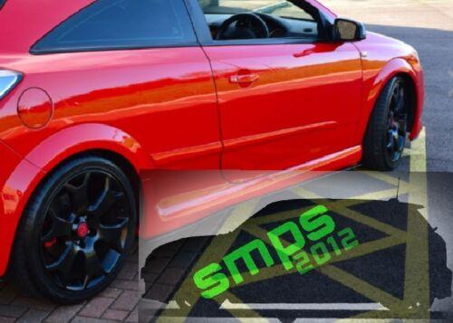Vauxhall Astra Mk5 beltline strips below window trim Gloss Black