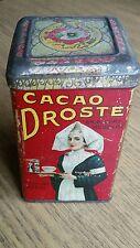 DROSTE cacao Antik Blechdose , selten shabby schick Werbung tolle Litho rar 1900