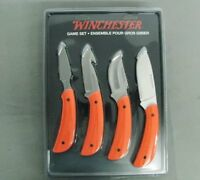 WINCHESTER KNIFE 31-002402 4 HUNTING GAME CLEANING SET FIXED BLADE NEW